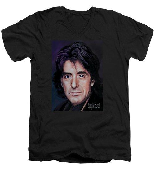 Al Men's V-Neck T-Shirt by Andrzej Szczerski