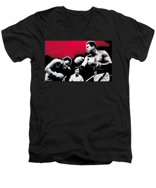 - Ali Vs Fraser - Men's V-Neck T-Shirt by Luis Ludzska