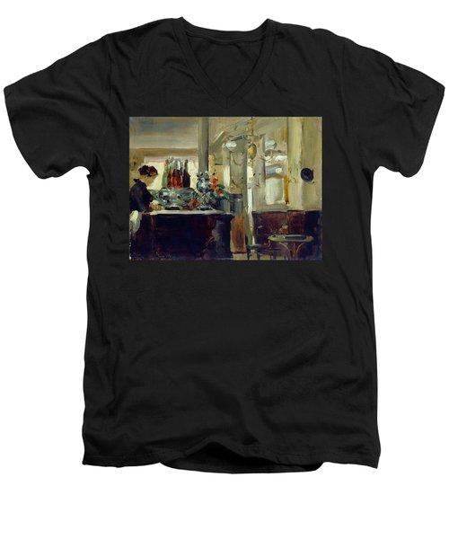 Bon Bock Cafe Men's V-Neck T-Shirt