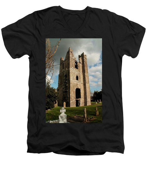 Church In Duleek. Men's V-Neck T-Shirt by Martina Fagan