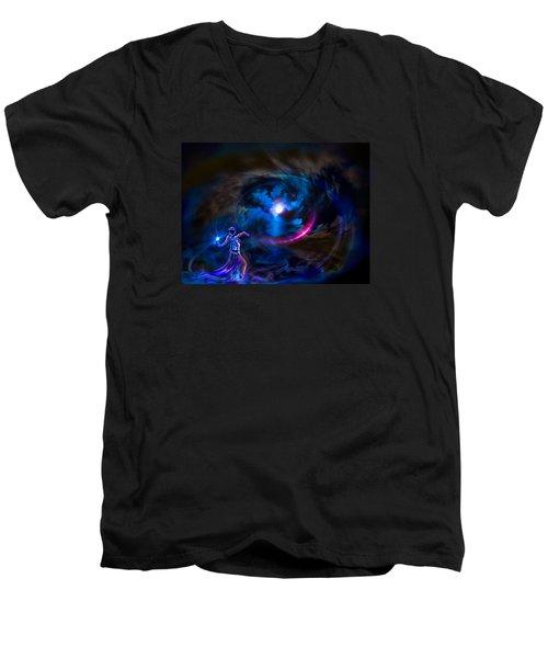 Entrancing The Mystical Moon Men's V-Neck T-Shirt