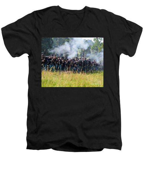 Gettysburg Union Infantry 9360c Men's V-Neck T-Shirt
