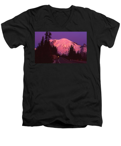 Highway To Sunrise Men's V-Neck T-Shirt