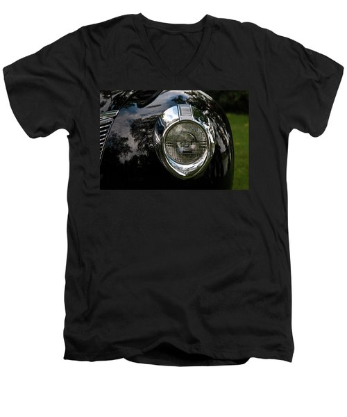 Men's V-Neck T-Shirt featuring the photograph  One Eye 13128 by Guy Whiteley