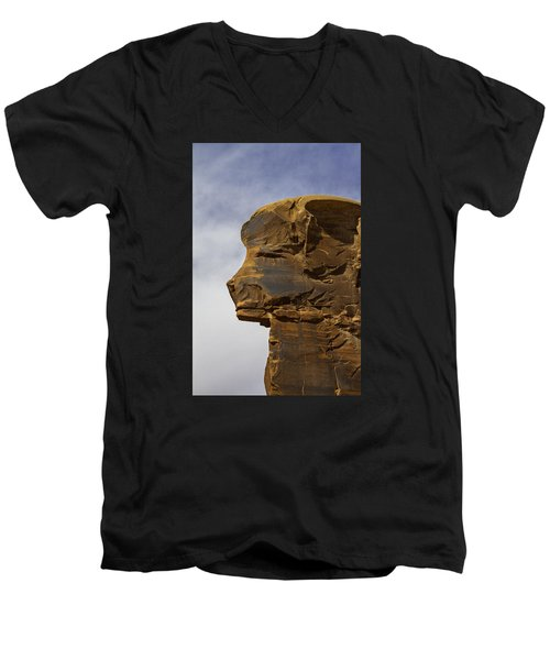 Pharaoh Men's V-Neck T-Shirt by Elizabeth Eldridge
