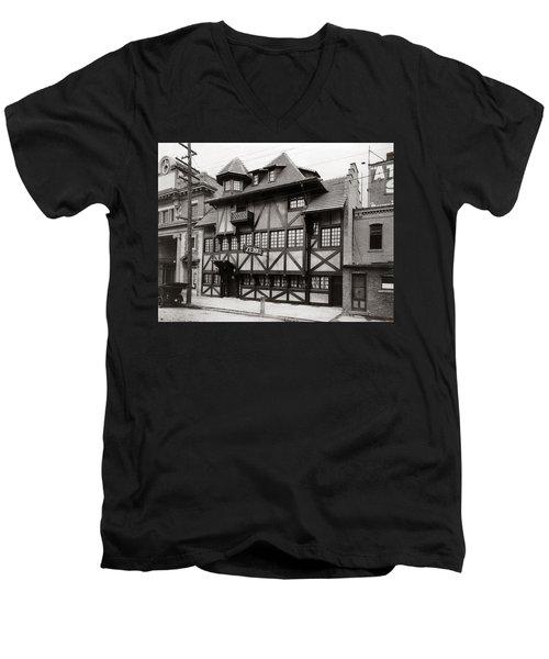Scranton Pa Zenke's Alt Heidelberg Restaurant Early 1900s Men's V-Neck T-Shirt