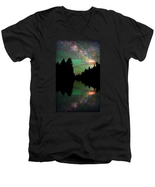 Starry Dreamscape Men's V-Neck T-Shirt