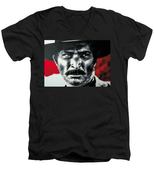 - The Good The Bad And The Ugly - Men's V-Neck T-Shirt by Luis Ludzska