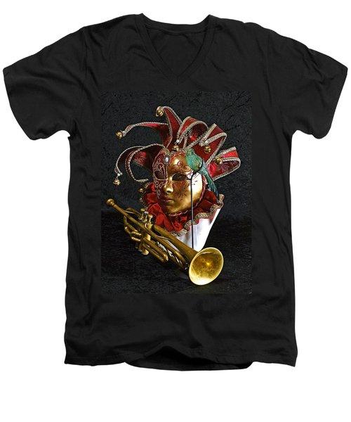 Venitian Joker Men's V-Neck T-Shirt