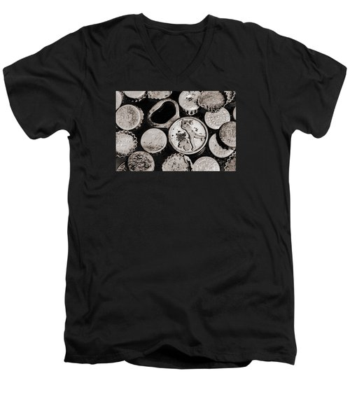 Men's V-Neck T-Shirt featuring the photograph  Vintage Opener  by Andrey  Godyaykin