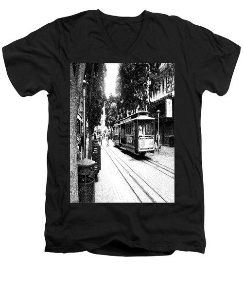 021016 San Francisco Trolly Men's V-Neck T-Shirt by Garland Oldham