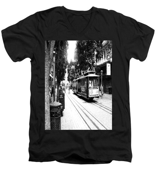 021016 San Francisco Trolly Men's V-Neck T-Shirt