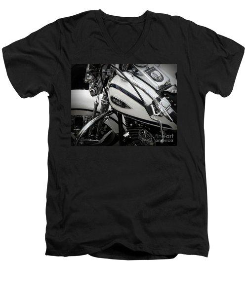 1 - Harley Davidson Series  Men's V-Neck T-Shirt by Lainie Wrightson
