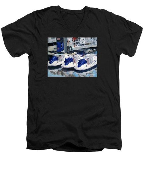 1 2 3 Go Men's V-Neck T-Shirt