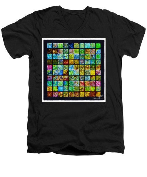 99 Names Of Allah Men's V-Neck T-Shirt by Gull G