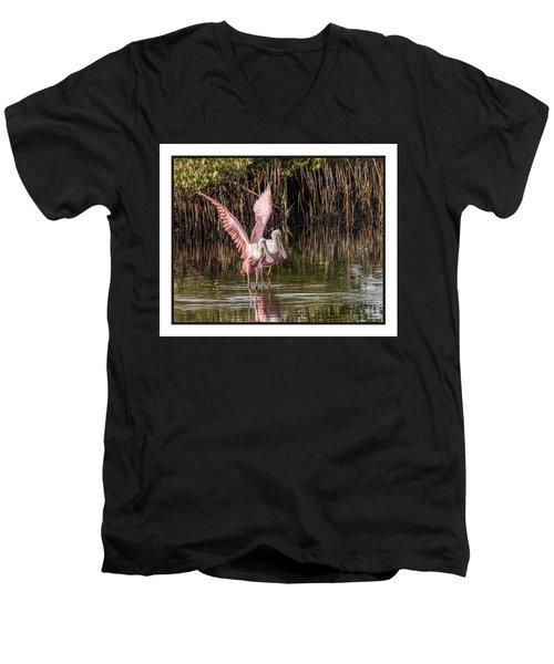 A Pair Of Spoonbills Men's V-Neck T-Shirt
