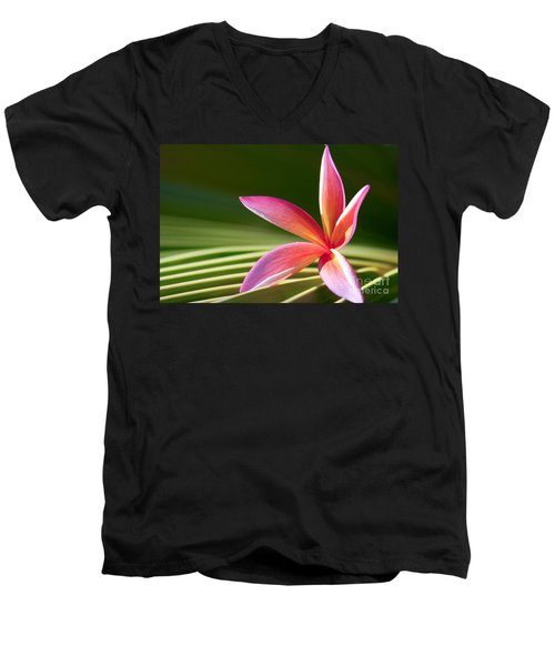 Men's V-Neck T-Shirt featuring the photograph A Pure World by Sharon Mau
