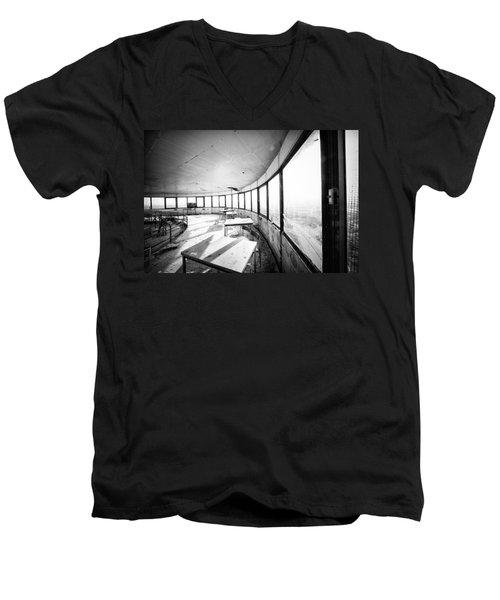 Abandoned Tower Restaurant - Urban Exploration Men's V-Neck T-Shirt