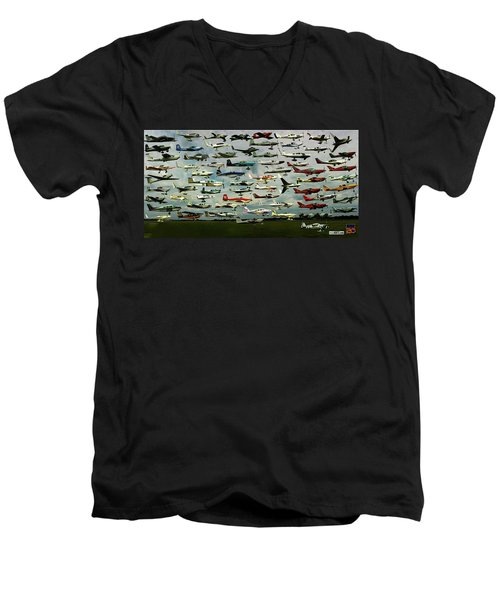 Airventure Cup Air Race, 2017 - Panorama Men's V-Neck T-Shirt