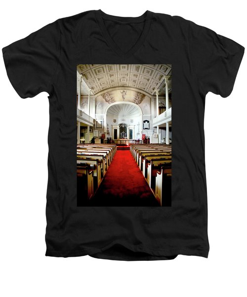 Men's V-Neck T-Shirt featuring the photograph Aisle Of God by Greg Fortier