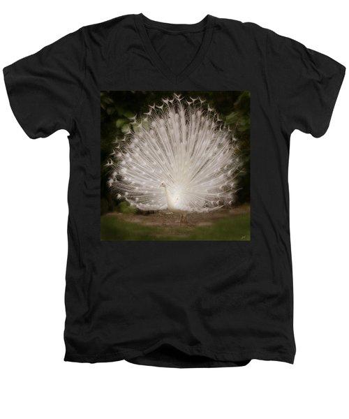 Albino Peacock  Men's V-Neck T-Shirt