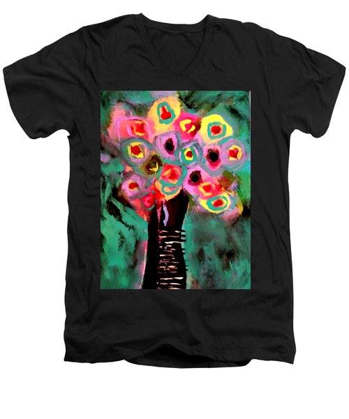Anemones Men's V-Neck T-Shirt