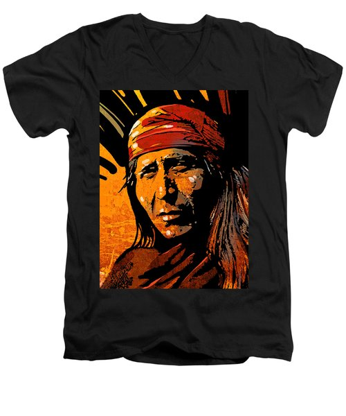 Apache Warrior Men's V-Neck T-Shirt