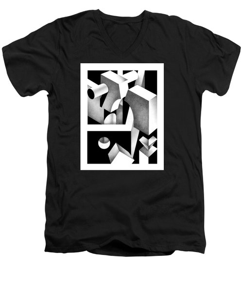 Archtectonic 8 Men's V-Neck T-Shirt