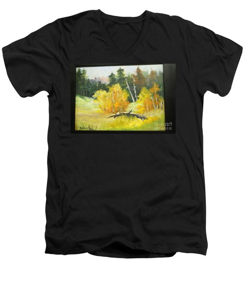 Aspens En Plein Air Men's V-Neck T-Shirt