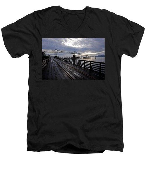 Astoria-megler Bridge 4 Men's V-Neck T-Shirt