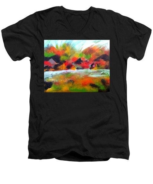 Autumn Blaze Men's V-Neck T-Shirt