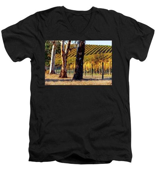 Autumn Vines Men's V-Neck T-Shirt by Bill Robinson
