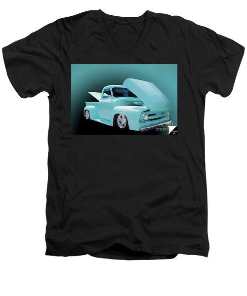 Men's V-Neck T-Shirt featuring the photograph Baby Blue 2 by Jim  Hatch