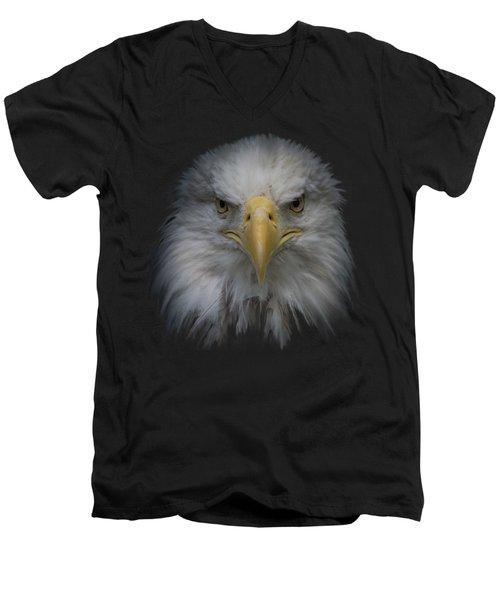 Men's V-Neck T-Shirt featuring the photograph Bald Eagle by Ernie Echols