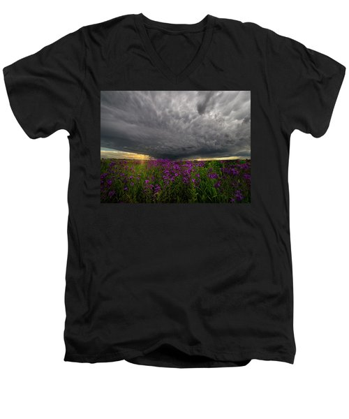 Men's V-Neck T-Shirt featuring the photograph Beauty And The Beast by Aaron J Groen