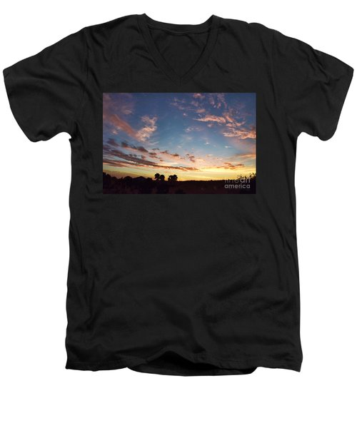 Beauty Is A Cherished Gift From God Men's V-Neck T-Shirt by Sharon Soberon