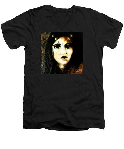 Believe  Men's V-Neck T-Shirt by Kim Prowse
