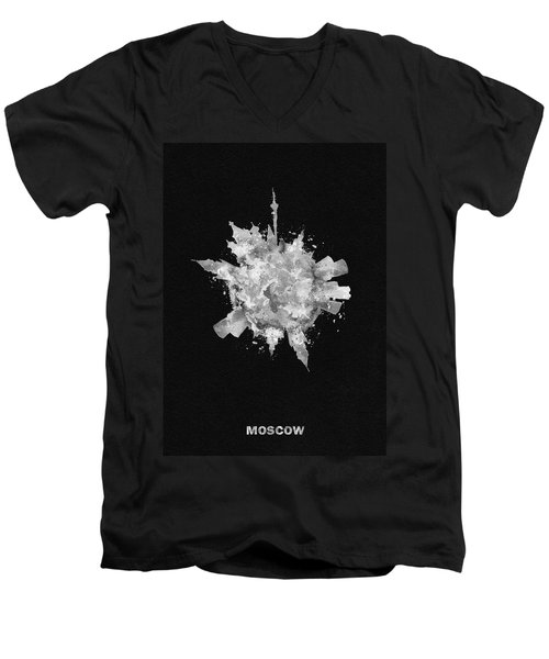 Black Skyround Art Of Moscow, Russia Men's V-Neck T-Shirt