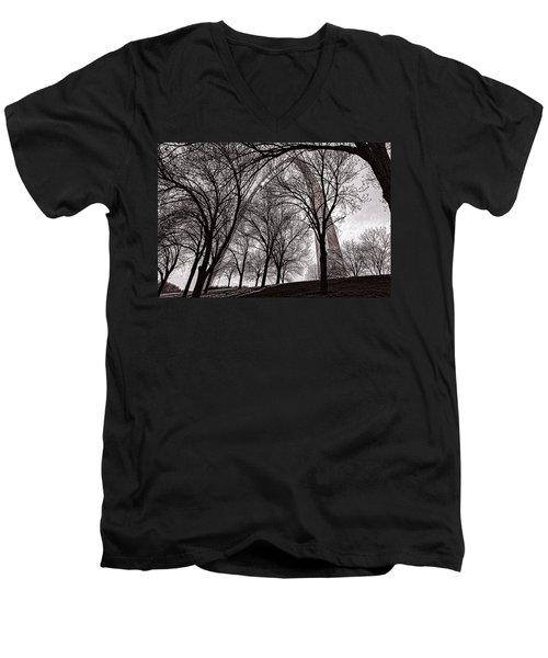 Blending In Men's V-Neck T-Shirt by Robert FERD Frank