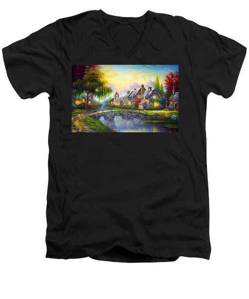 Bridge Over Troubled Waters Men's V-Neck T-Shirt