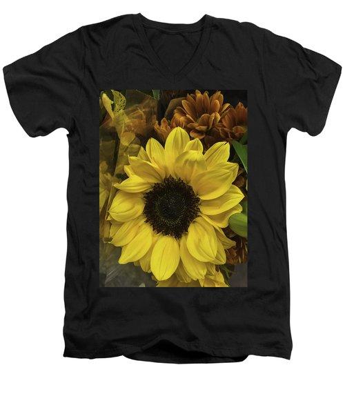 Bright Bouquet Men's V-Neck T-Shirt
