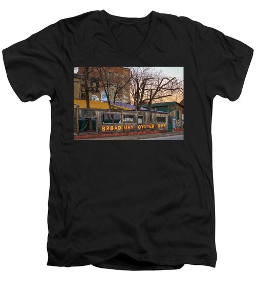 Broadway Oyster Bar Men's V-Neck T-Shirt