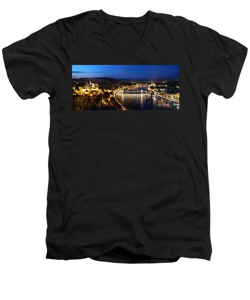 Budapest. View From Gellert Hill Men's V-Neck T-Shirt by Michal Bednarek