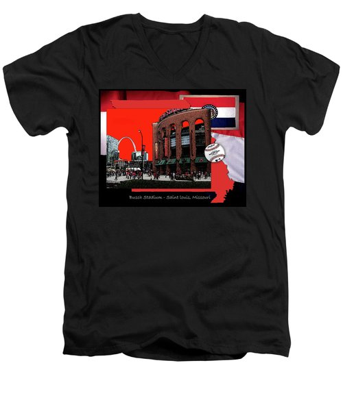 Busch Stadium Saint Louis Missouri Men's V-Neck T-Shirt by John Freidenberg