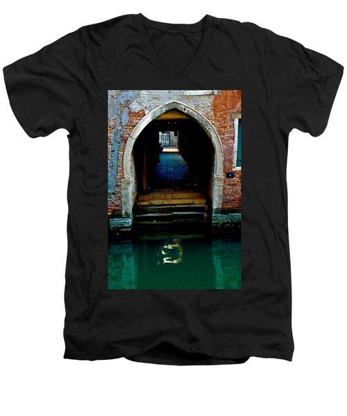 Canal Entrance Men's V-Neck T-Shirt by Harry Spitz