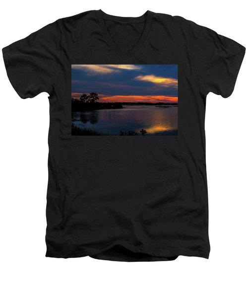 Men's V-Neck T-Shirt featuring the photograph Ceader Key Florida  by Louis Ferreira