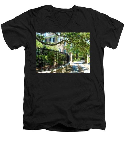 Charming Charleston Men's V-Neck T-Shirt by Kay Gilley