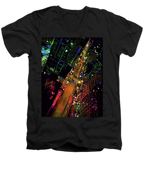 Chicago Men's V-Neck T-Shirt