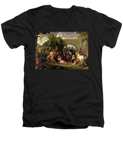 Christ Carrying The Cross Men's V-Neck T-Shirt