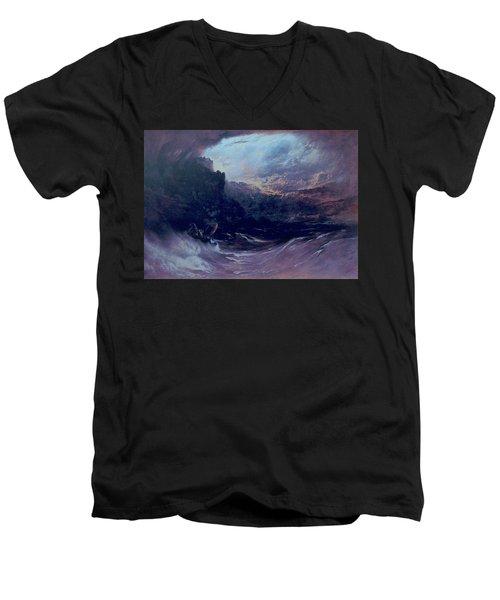 Christ Stilleth The Tempest Men's V-Neck T-Shirt